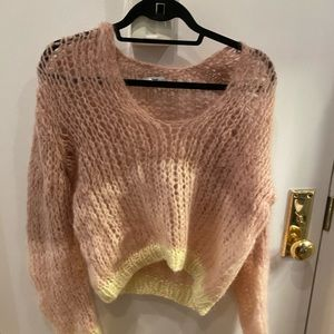 Maiami pink and yellow sweater